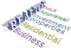De makelaar in onroerend goed Real Estate verkoopt de Huisdiensten vector illustratie