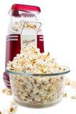 De maker van de popcorn en popcorn Stock Foto