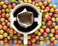 De maker van de koffiedruppel stock foto's