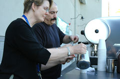 De Makers van de espresso. Royalty-vrije Stock Foto's