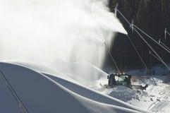 De makers van de sneeuw en sneeuwafwijkingen Royalty-vrije Stock Foto