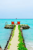 De Maldiven, Onthaal aan Paradijs! stock foto