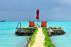 De Maldiven, Onthaal aan Paradijs! stock afbeelding