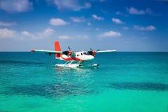 De Maldiven, overzees vliegtuig Stock Afbeeldingen