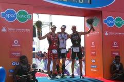 Male vinnarear Ironman Sydafrika 2013 arkivfoto