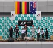 De Maleise F1 Winnaar van Grand Prix Stock Foto's
