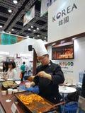 De Maleise Voedsel & Drank Internationale Handelsbeurs bij KLCC Stock Fotografie