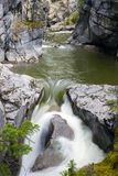 De Malignecanion valt Jasper National Park royalty-vrije stock afbeeldingen