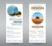 De malplaatjes rollen banners met ronde ontwerpelementen met op schaduw voor uw foto of beeld Stock Foto