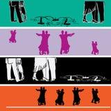 De Malplaatjes van de Banner van het Web van ballroom dansen vector illustratie