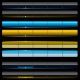 De malplaatjes van de het Webnavigatie van Aqua. royalty-vrije illustratie
