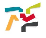 De Malplaatjes van de Infographicorigami voor Bedrijfsvector Stock Afbeelding