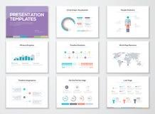 De malplaatjes van de Infographicpresentatie en bedrijfsbrochures Royalty-vrije Stock Foto's