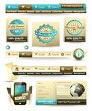 De malplaatjes van de premie en het materiaal hoofdinzameling van het Web: Stock Afbeelding