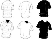 De malplaatjes van de t-shirt royalty-vrije illustratie
