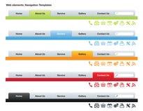 De Malplaatjes van de Webnavigatie stock illustratie