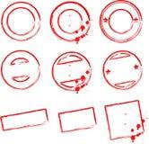 De malplaatjes van de zegel royalty-vrije illustratie