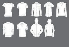 De Malplaatjes van overhemden Stock Afbeeldingen