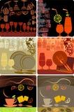 De malplaatjesontwerpen van Grunge van menu Stock Foto