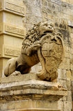 De Maltese Leeuw Royalty-vrije Stock Afbeeldingen