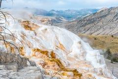 De mammoet hete lentes in Nationaal Park Yellowstone Stock Foto's