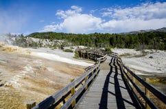 De mammoet hete lentes in Yellowstone Royalty-vrije Stock Fotografie