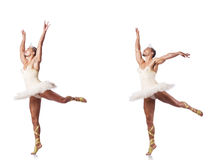 De man in ballettutu Stock Foto's