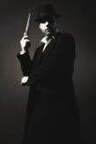 De man in de gangster van stijlchicago stock foto