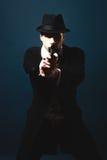 De man in de gangster van stijlchicago royalty-vrije stock foto