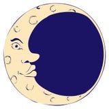 De man in de maan Stock Afbeelding