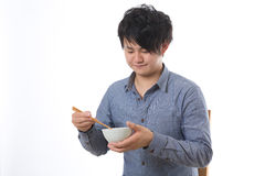 De man die eet Stock Foto