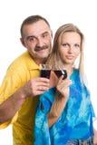 De man en de jonge vrouw de blonde Stock Foto