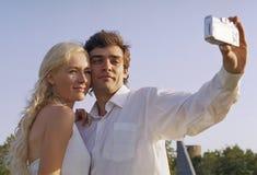 De man en de vrouw fotograferen van u royalty-vrije stock foto