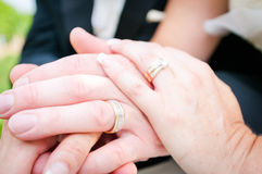 De man en de vrouw maried Stock Foto