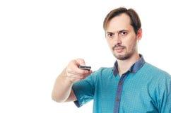 De man om het paneel te controleren Stock Fotografie