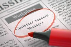 De Manager Job Vacancy van de klantenrekening 3d Stock Afbeelding