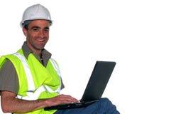 De manager van de bouw stock afbeelding