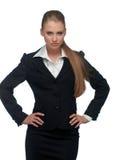 De manager van de vrouw in een kostuum stock foto