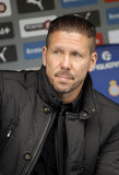 De manager van Diego Simeone van Atletico Madrid Stock Foto's