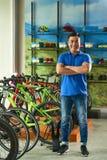 De manager van de fietsopslag royalty-vrije stock foto's
