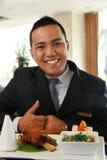 De manager van het restaurant Stock Afbeeldingen