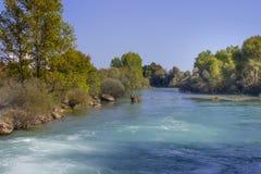 De Manavgat-rivier in Turkije stock afbeeldingen