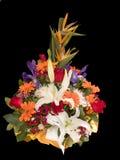 De mand van bloemen Stock Fotografie