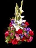 De mand van bloemen Stock Afbeeldingen