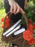 De mand van de bloem Royalty-vrije Stock Afbeelding