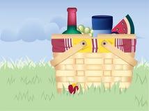 De Mand van de picknick Royalty-vrije Stock Afbeeldingen