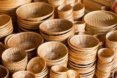 De mand van het bamboe Royalty-vrije Stock Foto's