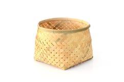 De mand van het bamboe Stock Foto's