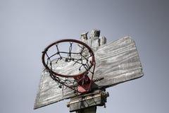De mand van het dorpsbasketbal Stock Foto