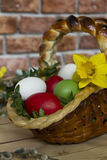 De mand van Pasen stock afbeeldingen